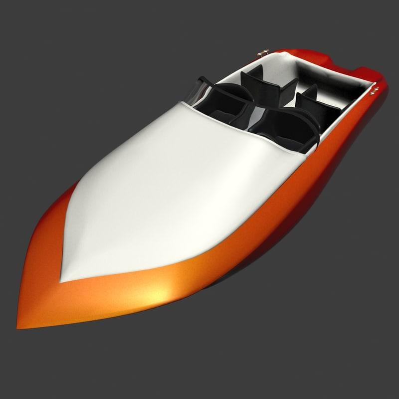 speed boat retro 3d max