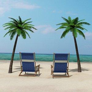 beach chairs 3d 3ds
