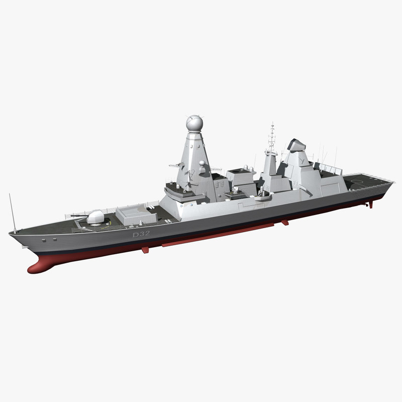3d model type 45 class destroyer