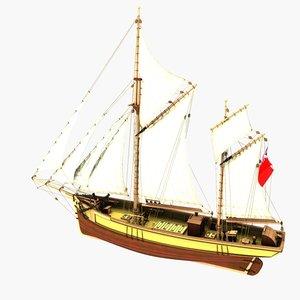 3d ship clara