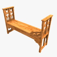 Medieval Wooden Bench