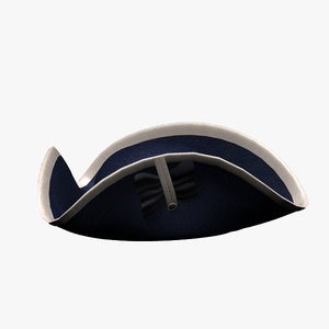 tricorne hat 3d 3ds