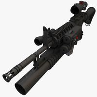 3d m4a1 acog grenade