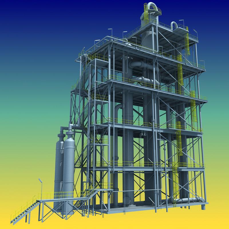 refinery unit 3d model