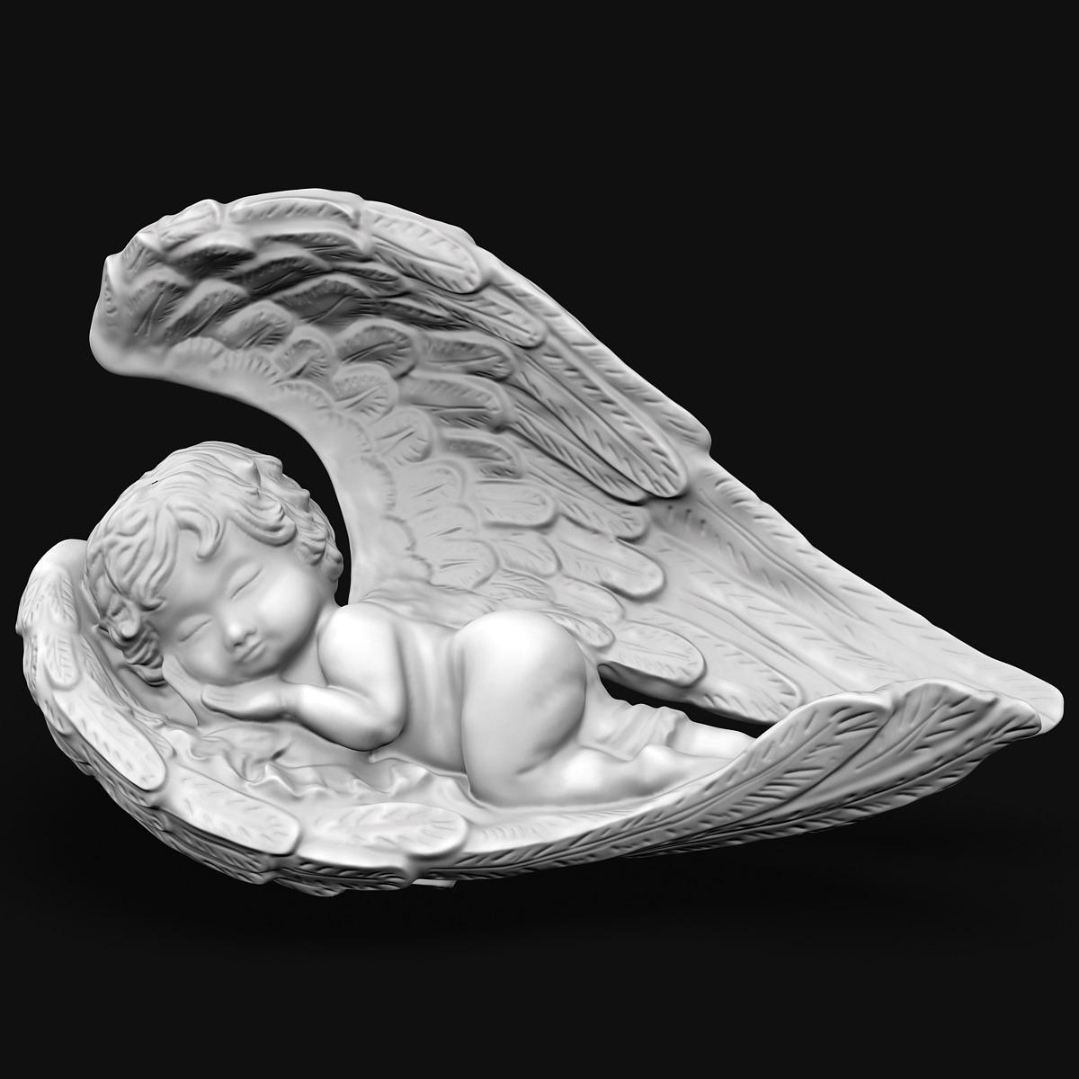 angel statuette 3d 3ds