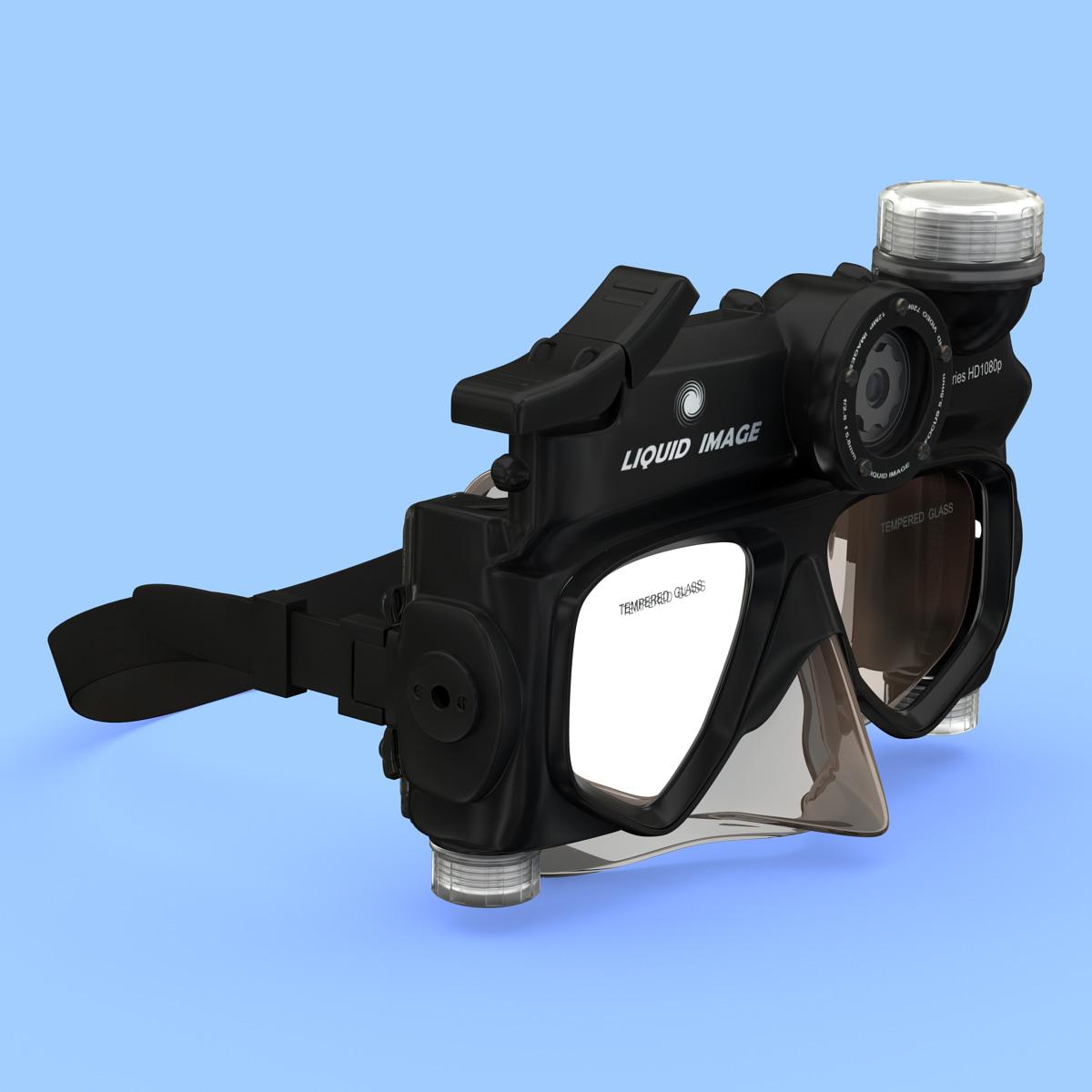 camera mask scuba series 3d model