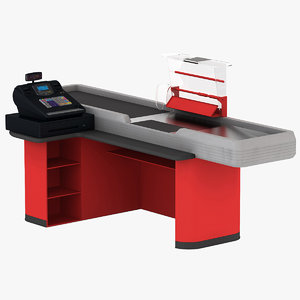3d model cash counter 2