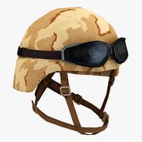 combat helmet 2 3d model