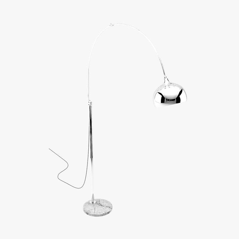 3ds curved floor lamp metal