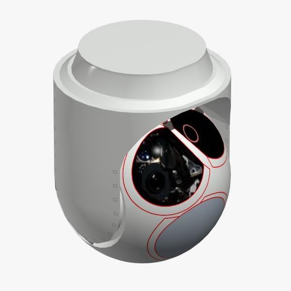l-3 electro-optical sensor mx-15hdi 3d model