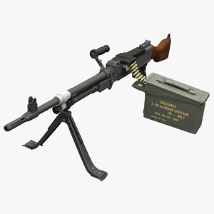 3d model of machine gun fn mag
