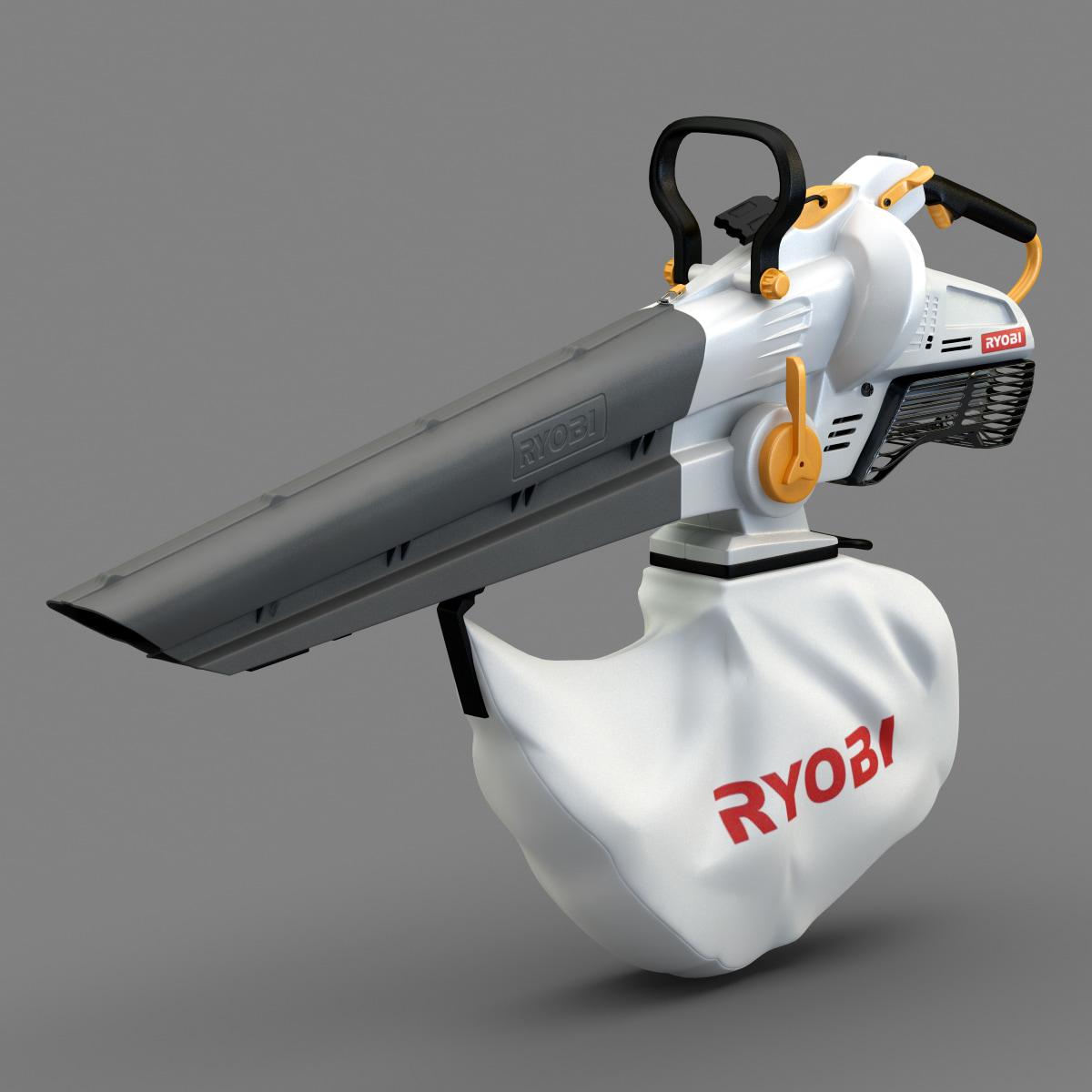 portable leaf blower 3d model