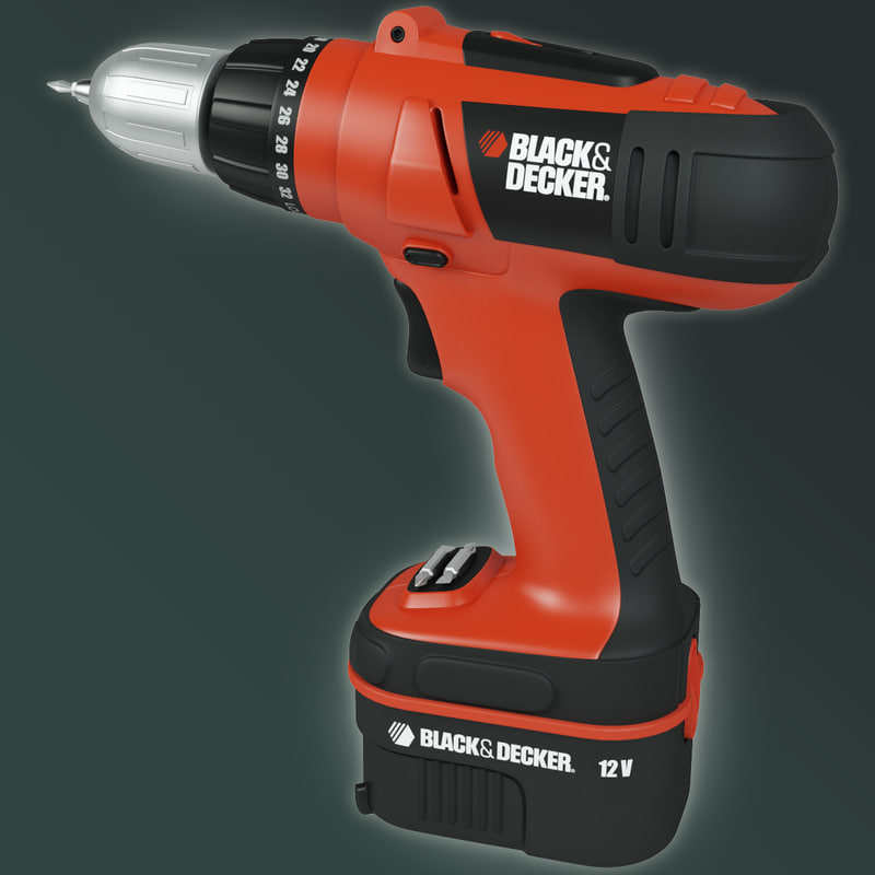 3d black decker cordless drill