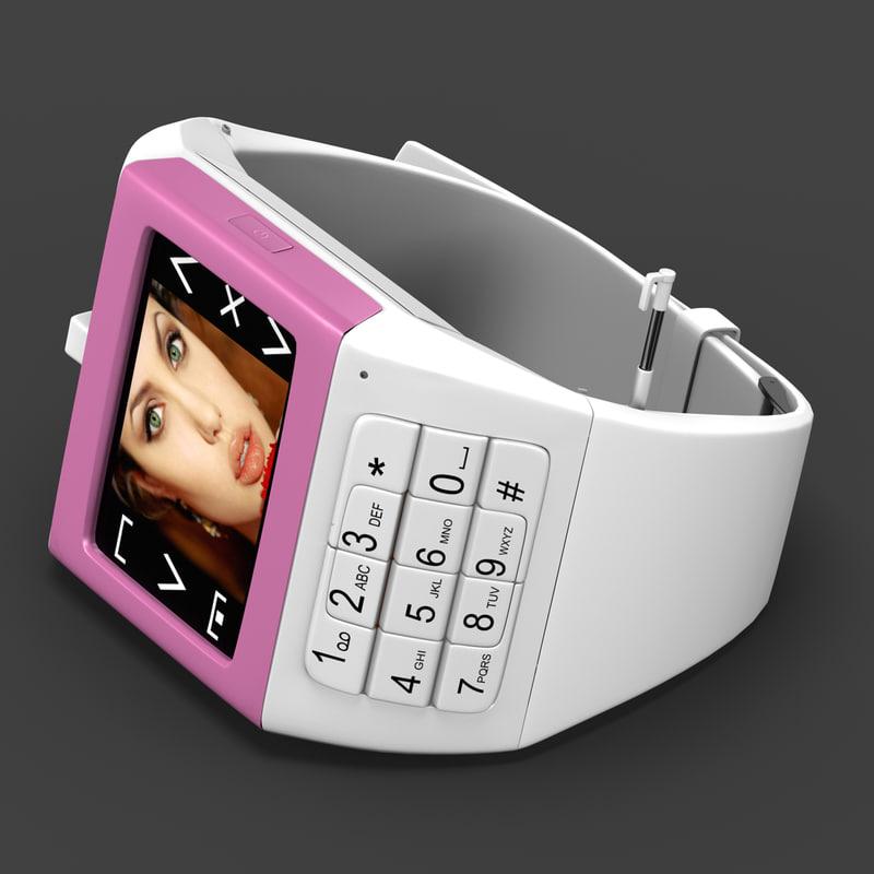 3dsmax watchphone iwatch eg100 pink