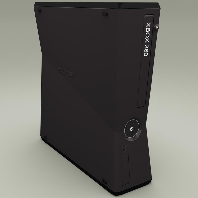 xbox 360 slim 3d model