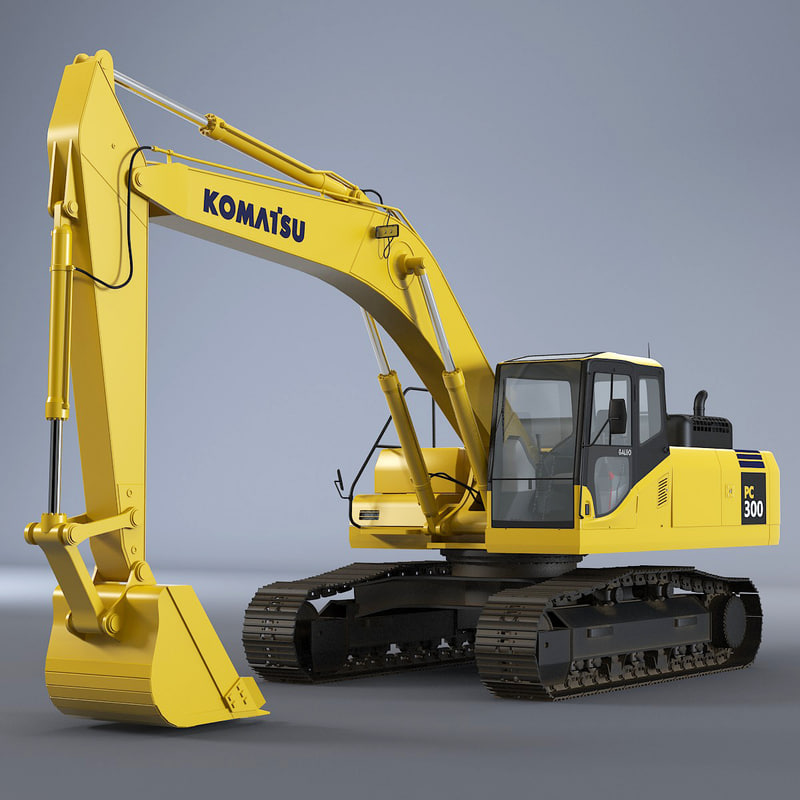 b Komatsu Excavator tracked digger build industrial work car road engineering track x heavy vehicle machine.jpg