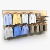 Dress Pants and Shirts Wall