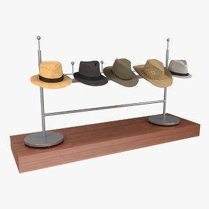 3d model of men s hats