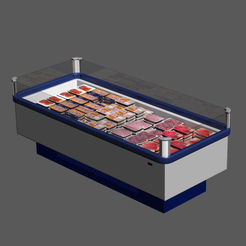 3d model chest freezer