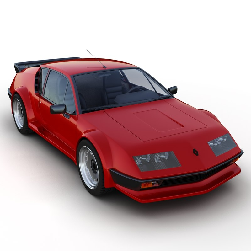 3d renault alpine a310. Black Bedroom Furniture Sets. Home Design Ideas