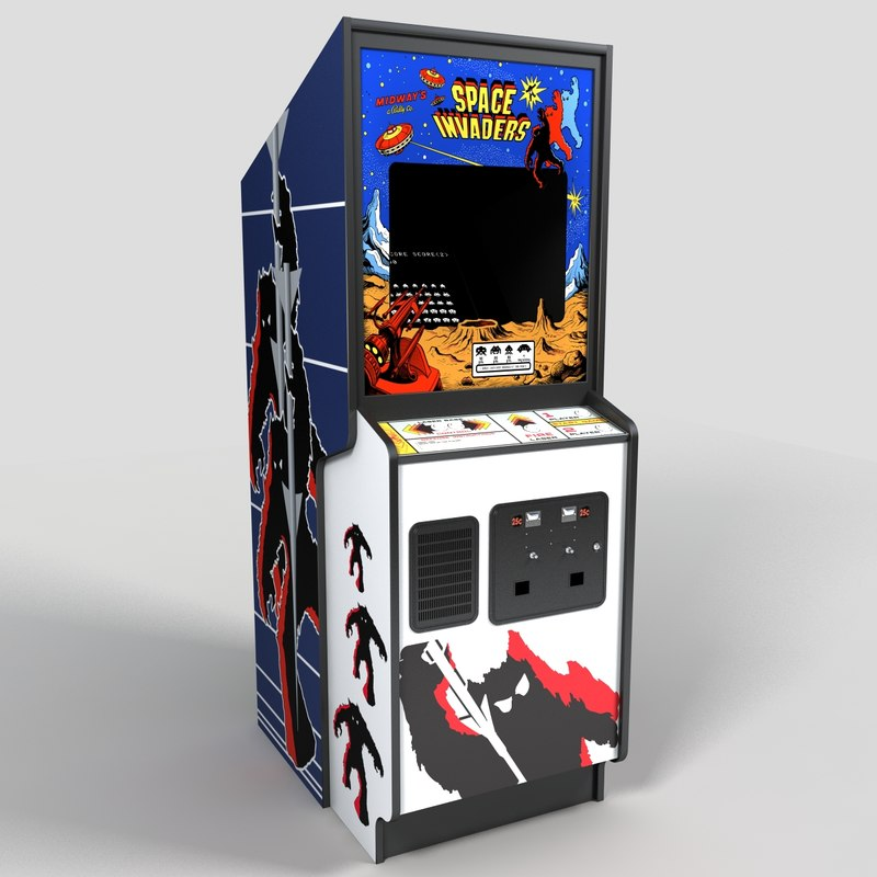 3ds max spade invaders arcade