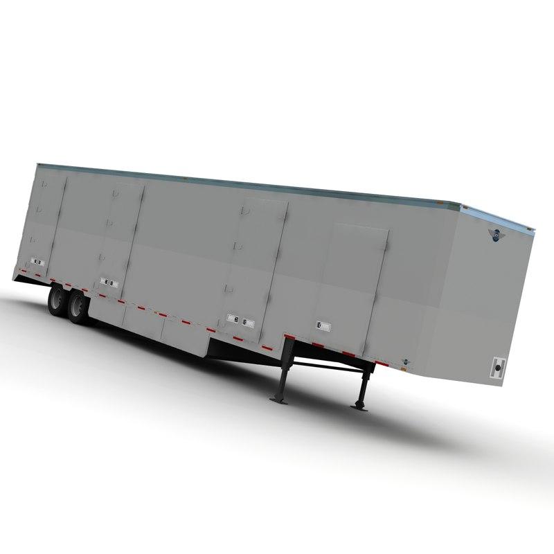 3d moving van model