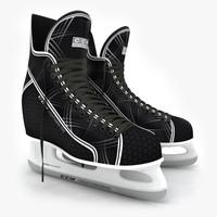 3d model ice skates