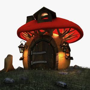 toon cartoon house 3d 3ds
