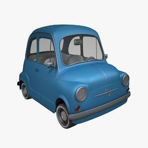 cartoon fiat 600 car max