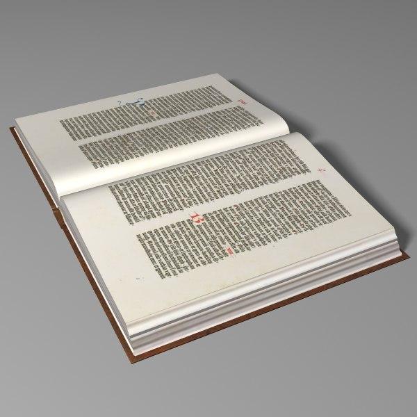 vintage book 3d model
