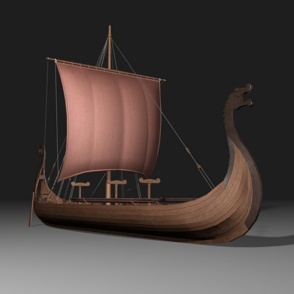 3d viking ship model