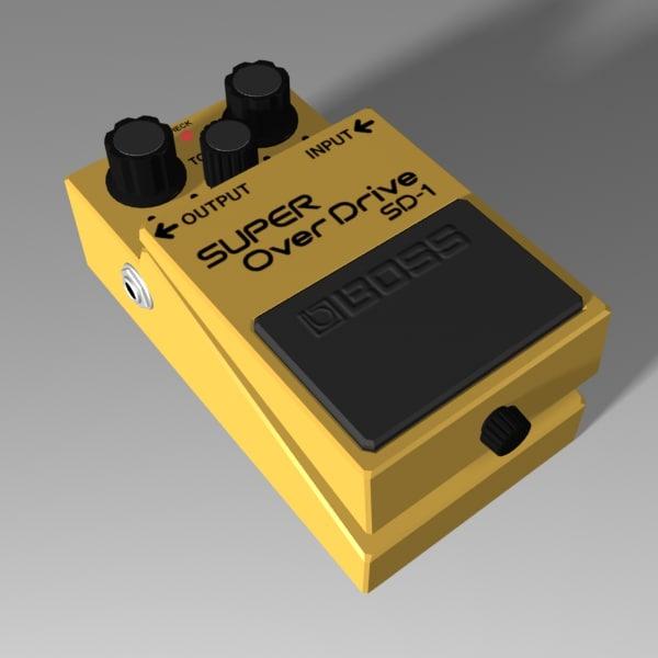 overdrive pedal 3d model