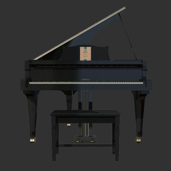 grand piano 3d lwo