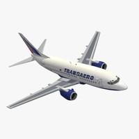 3d model b 737-500 transaero
