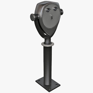 3d coin operated telescope