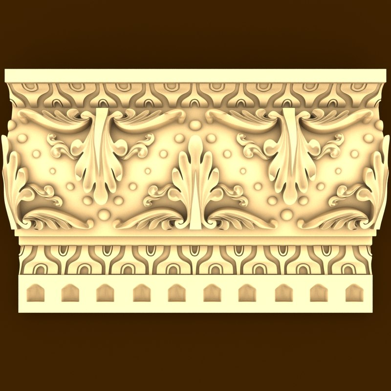 3ds max wall crown
