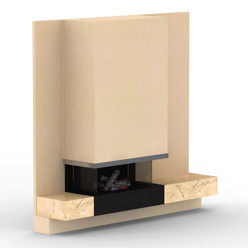 fireplace 3d obj