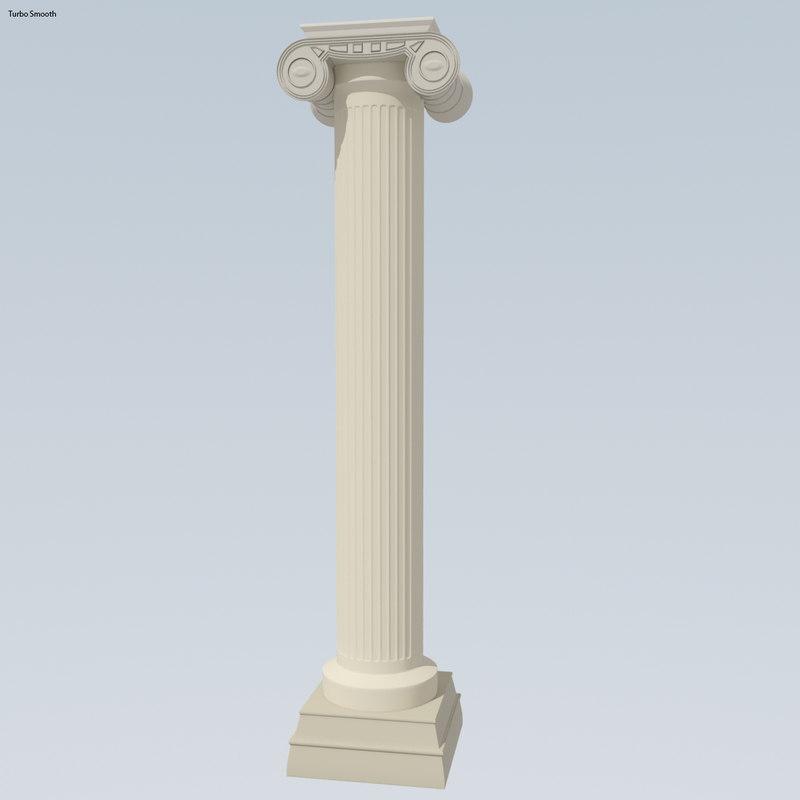 antiquity pillar 3d max