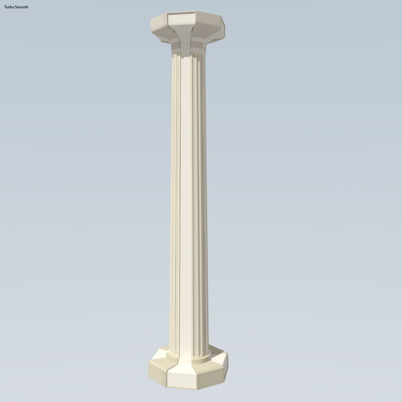 3ds max freestyle pillar