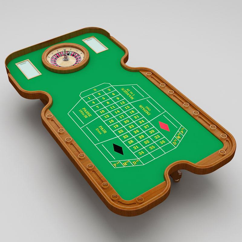 roulette table 2 3d 3ds