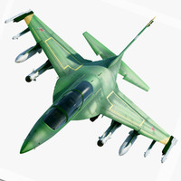 3d model of yak 130 military aircraft
