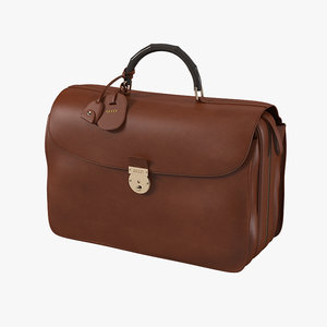 3d gucci brown briefcase