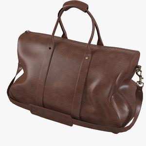 3d leather handbag model