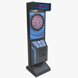 3d model arcade dart board