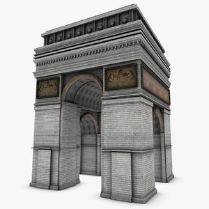arc triomphe arch 3d model
