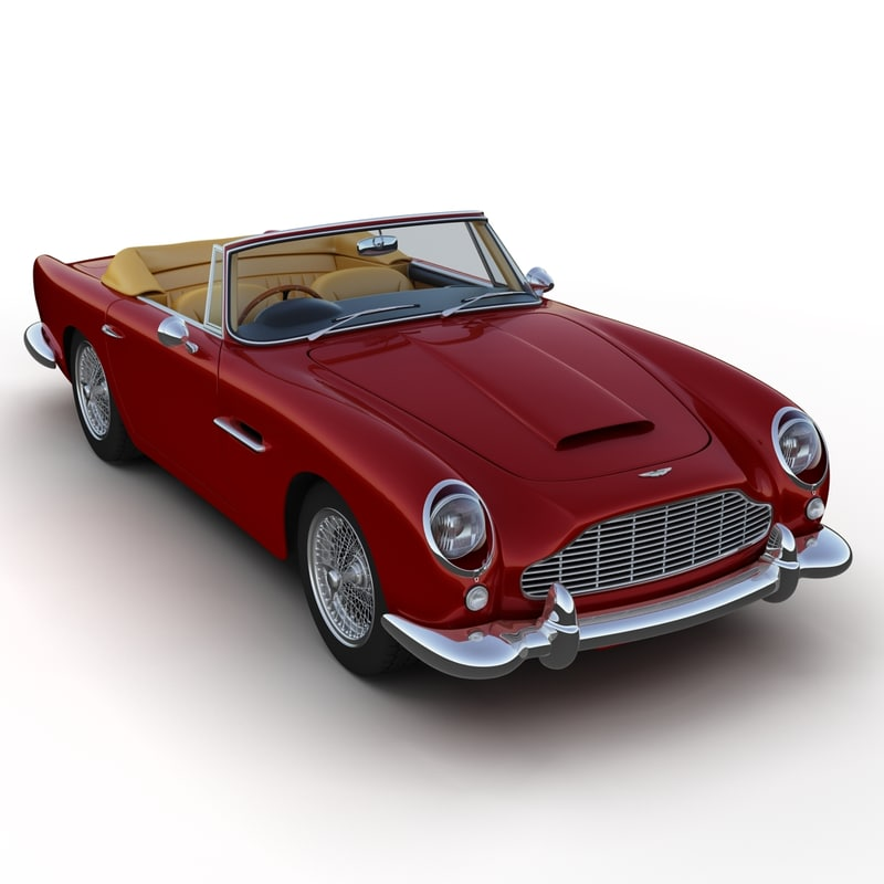 aston martin db5 convertible 3d model