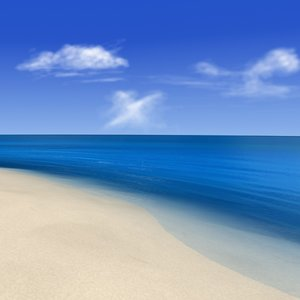 beach scene animation sea 3d model