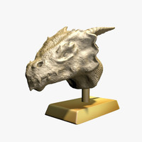 3d model dragon bust