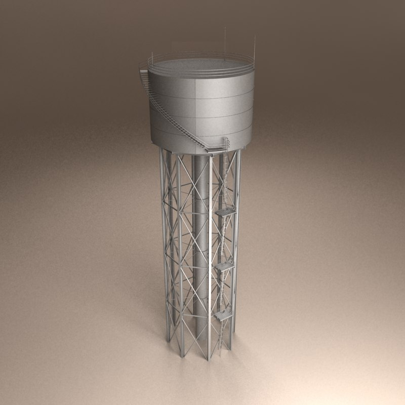 civic water tower 3d 3ds