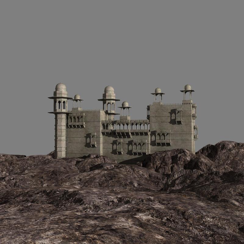 3d indian palace model